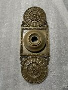 Antique Russel And Erwin Door Bell Ornate Housing Cover Plate Architectural
