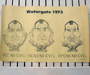 Vintage President Nixon Poster And039watergate 1973and039 11 X 17 Print Speak No Evil