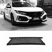 For Honda Civic Type R 2016-2020 Black Front Lower Bumper Mesh Grill Grille Trim