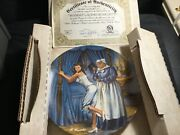 """Edwin M Knowles China Co """"mammy Lacing Scarlett"""" Collector Plate Nib With Coa"""