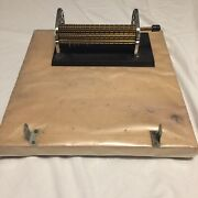 Read Smocking Pleater Gathering Machine Pro Attached To Heavy Wood Board Vtg T1