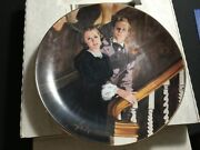 Gone With The Wind Melanie And Ashleyandrdquo W.l.george Collectors Plate Great Color