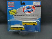 2 Mini Metals N Scale Gmc Tdh-3610 Transit Bus National City Lines Nos