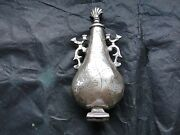 Dutch Styled Middle Eastern Perfume Bottle, Hand Made Antique C-1800 Marked