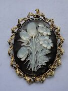 Gold 18ct Brooch Vintage Signed 150 Years Old 1863 Beautiful Intricate Sapphires