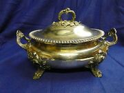 Soup Tureen C-1820, Old Sheffield, Gadroon And Shell Crested Borders And Handles