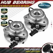 2x Front Wheel Hub And Bearing Assembly For Chevy Blazer 98-05 Gmc Jimmy 98-04 Rwd