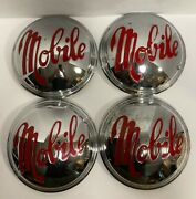 Rare Set Of Four 4 Vintage 50and039s Mobile Travel Trailer Rv Dog Dish Baby Moon