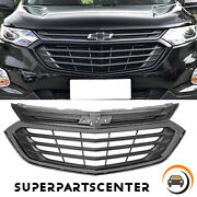 Gloss Black Front Grill Bumper Upper Grille For 2018 2019 2020 Chevrolet Equinox