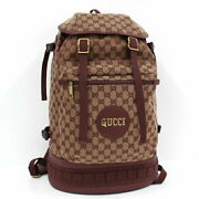 Backpack Gg Canvas Brown Bordeaux Red System 562911 _39403