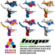 Hope Tech 3 V4 Front And Rear Brakes Black / Braided Hose - Custom Colors - New