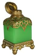 Reserved Large Antique Opaline Glass Perfume/scent Bottle | Bronze | Grand Tour