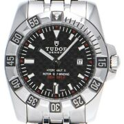 Free Shipping Pre-owned Tudor Hydro Note Ii 24030 Self-winding Black Dial