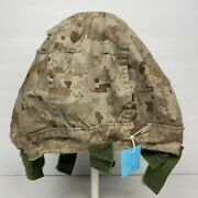 Xs/s Usmc Lwh Pasgt Marine Corps Reversible Lightweight Helmet Cover Marpat Used