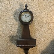 Antique 1920's Early Herman Miller Ornate Carved 17 Wall Clock Usa Restoration