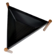 Triangle Steel Outdoor Wood Burning Fire Pit Portable With Log Grate New