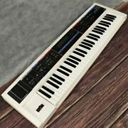 Used Roland Juno-di White Mobile Synthesizer Electronic Piano Keyboard