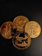 Us 2016 Liberty 1oz Fine Gold Plated 50 Dollar Coin- Uncirculated