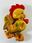 Vintage Rempel Roofus The Rooster Rubber Chicken Squeaker Toy Repair