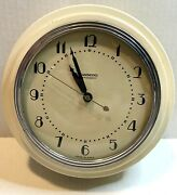 Vintage Hammond Art Deco Synchronous Wall Clock White Model 321 For Parts