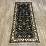 Yilong 2.5'x6' All Over Handknotted Silk Hallway Carpet Kitchen Rug Runner 237ab