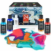 Acrylic Pouring Paint 2oz Bottles Set Of 24 Assorted Colors And Silicone Oil1...