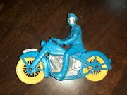 Auburn Rubber Police Motorcycle - Antique - Old Toy
