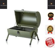 Portable Bbq Grill Stove Charcoal Oven Smoker Pit Fire Folding Outdoor Backyard