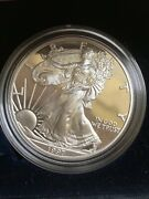 1997-p Silver Dollar Proof American Eagle Coin W/case And Box. Uncirc
