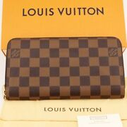 Louis Vuitton Zippy Wallet Long There Is Coin Purse N60015 Damier _19885