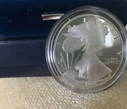 2000-p Silver American Eagle Proof One Dollar Coin, Uncirc., Beauty W/box/case