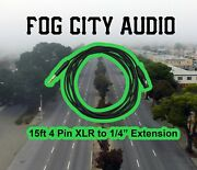 Fogcityaudio - 4 Pin Xlr To 1/4 Extension Cable 15ft Mogami Cable