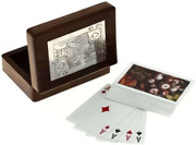 Ajuny Wooden Boxes For Storage Playing Card Holder Artisan Crafted
