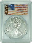 2011-s Pcgs Ms69 Silver Eagle 25th Anniversary First Strike Don't Freedom Label