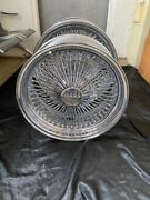 22 Knock Off Chrome 150 Spoke Wire Wheels For Rwdset Of 4complete
