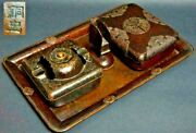 Copper Ashtray Box Case Japanese Antique Smoking Pipe Tool Metalworking
