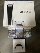 Sony Playstation 5 Ps5 Console Disc Version 3 Game Bundle Brand New In Hand
