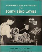 South Bend Lathe Manual No. 77-u - Attachments And Accessories 1949