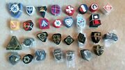 600 30 Diff. Military Mostly Army Color And Subdued Insignia Sew-on Patches Lot