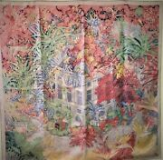 Hermes Scarf Carres 90 Faubourg Tropical _40558
