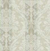 Antique Striped Bouquet Wallpaper In Plated Dv50808 From Wallquest