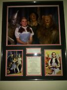 Judy Garland Signed The Wizard Of Oz - Custom Display Signature Vf And Scarce