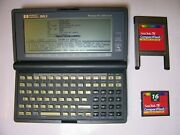 Hp 200lx With 8mb Double Speed + 16mb Memory Card Pcmcia Adapter And Manuals