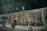 12 Ft Tall Giant Skeleton W/ Animated Lcd Eyes Halloween Prop Sold Out New