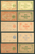 5 Us Philippines 1 Peso Free Negros Ww2 Emergency Currency Banknotes 1943-1945