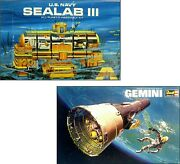 Miniature 112 Scale 2pc Model Kits Sealab Iii And Gemini Capsule Empty Toy Boxes