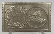 1971 Numismatic Medal Stamp 1857 Flying Eagle One Cent By Mort Reed