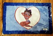 2004 Betty Boop Miss Usa Catalina Products Tufted Pile Small Area Rug 20 X 31