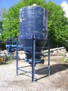 Industrial Hopper Approx 2200high X 1500dia With Shaker-off Set Motor - Vibrator