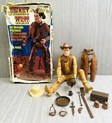 Vintage 1965 Johnny West Cowboy Action Figure And Accessories Marx Toy